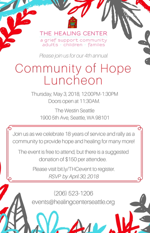 Luncheon Invitation 2018 1 The Healing Center Seattle